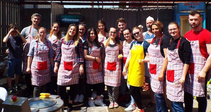Masa Saracilor Cluj Napoca si Floresti de azi a fost gatita de o minunata echipa studenteasca!